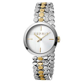 ESPRIT Ladies Watch Watches FREE Bracelet Bliss Silver and Gold Quartz