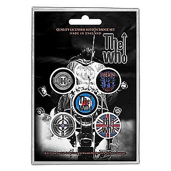 The Who Quadrophenia 5 Pin Badges in Pack (rz)