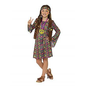Hippie girl child costume flower child Carnival theme party