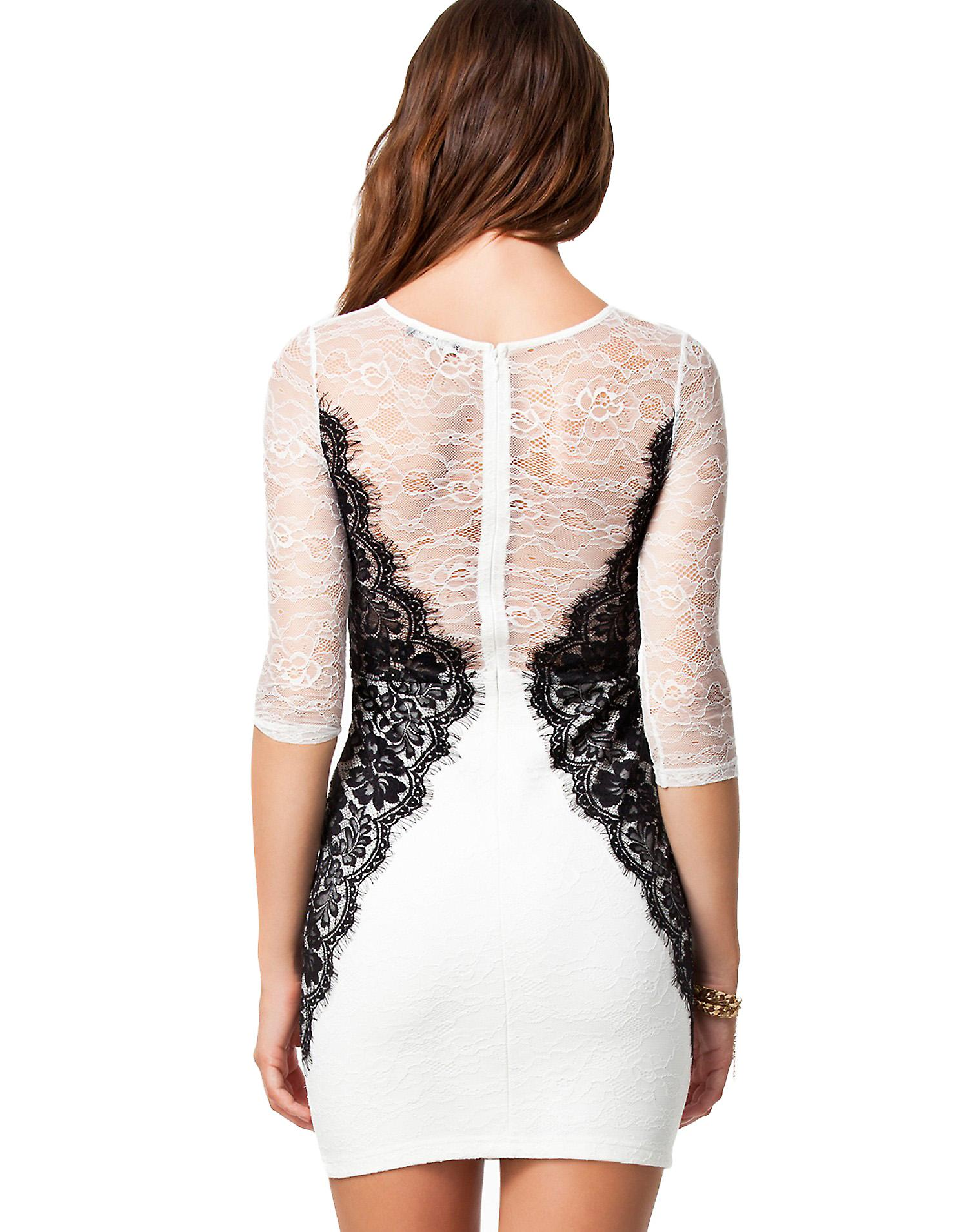Waooh - Fashion - Dress semi transparent lace