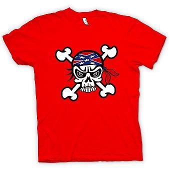 Mens T-shirt - Skull with Bandana & Cross Bones