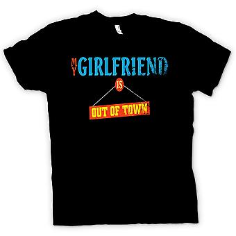 Mens T-shirt - My Girlfriend Is Out Of Town - Joke