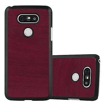 Cadorabo Hülle für LG G5 - Hardcase Handyhülle in Vintage Holz Optik - Schutzhülle Bumper Back Case Cover