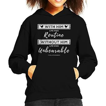 To Kill A Mockingbird Life Was Unbearable Quote Kid's Hooded Sweatshirt