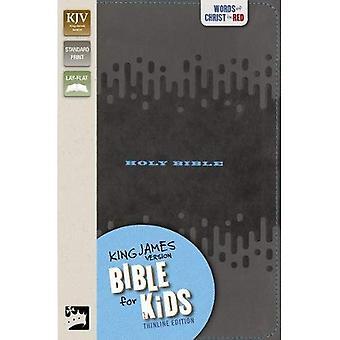 KJV Bible pour les enfants, simili cuir, charbon de bois: Thinline Edition