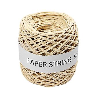 Natural Paper String for Crafts - 50m | Twine Cord & Elastic for Crafts