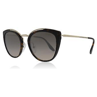 Prada PR20US 2AU4P0 Pale Gold / Havana PR20US Square Sunglasses Lens Category 3 Lens Mirrored Size 54mm