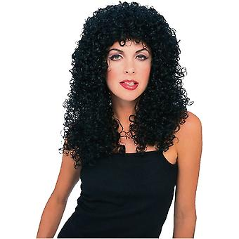Curly Long Black Wig For Adults