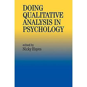Gör kvalitativ analys i psykologi av Hayes & Nicky