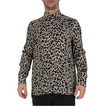 Laneus Leopard Silk Shirt