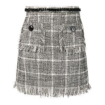 Elisabetta Franchi Black Cotton Skirt