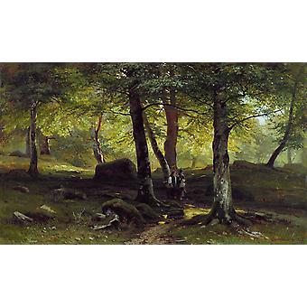 In the Bush,Ivan Shishkin,38x62.5cm