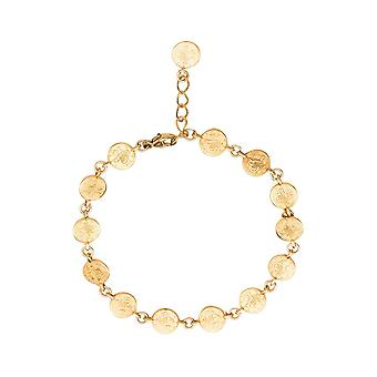 Gemshine pulseira ouro prata ou rosa com rodada qualidade sustentável feito antigas moedas vintage étnico - tamanho ajustável - de joalharia em Espanha