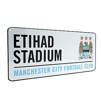Manchester City Street Sign Etihad
