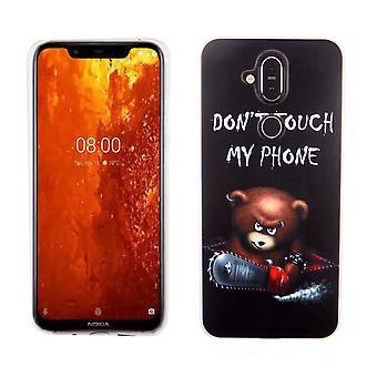 Nokia 8.1 / Nokia X 7 King-boutique mobile-bear protection case housse Etui pare-chocs ne touche pas mon téléphone
