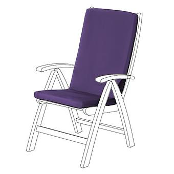 Gardenista® almohadilla de asiento HIGHBACK resistente al agua púrpura para silla de jardín, paquete de 4