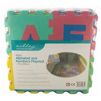 40PC Alphabet & Numbers EVA Foam Play Mat Set Kids Indoor Outdoor Use Garden