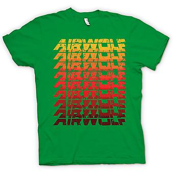 Herren T-shirt - Airwolf Cool pop Art Design