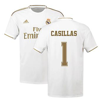 2019-2020 Real Madrid Adidas Home Football Shirt (CASILLAS 1)