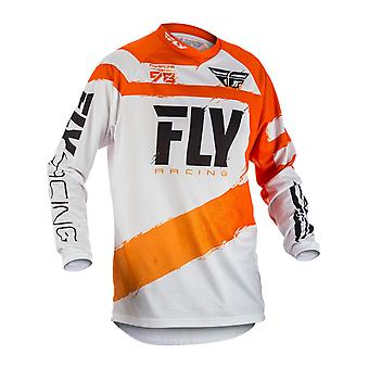 Fly Racing Orange-White 2018 F-16 Kids MX Jersey