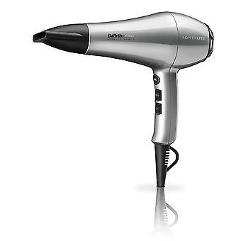 Babyliss Pro Powerlite 1900W Lightweight LHT Silver Salon Hair Dryer - BAB5589U
