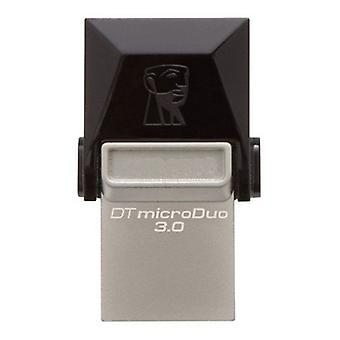 Kingston DTDUO3 64 GB USB Flash Drive en micro USB 3,0 zwart grijs