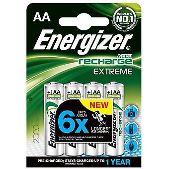 Energizer Rechargeable Nimh Hr6 (4 Pcs) (Aa) 2300Mah Extreme Preloaded