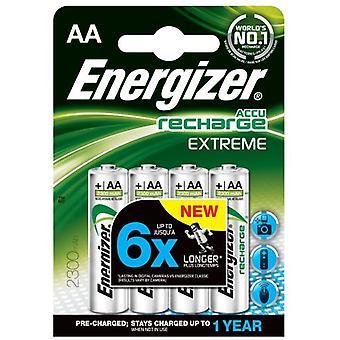 Energizer Recargables Nimh Hr6 (4 uds) (AA) 2300Mah Extreme Precargadas