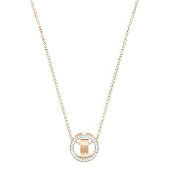 Swarovski Pendant Hollow - small - white - rose gold-plated
