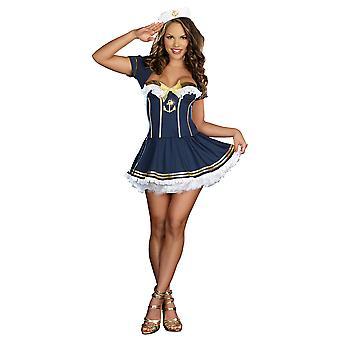 Rockt das Boot Sailor, die Marine Retro-1950er Jahre Marine Uniform Frauen Kostüm