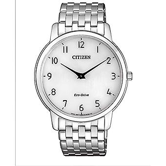 Citizen Quartz Watch Silver stainless steel strap and black dial analog display AR1130-81A