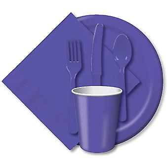 Heavy Duty Cutlery Assortment 24 Pkg Purple Cut 031