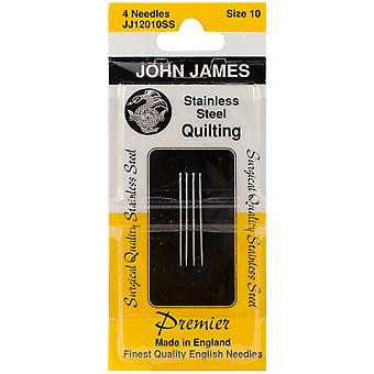 Stainless Steel Quilting Needles Size 10 4 Pkg Jj120 Ss 10