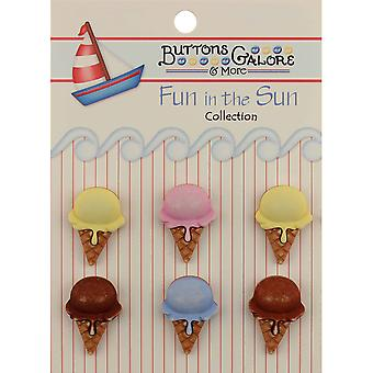 Fun In The Sun Buttons Ice Cream Cones Fn 104