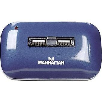 7 ports USB 2.0 hub Manhattan Blue