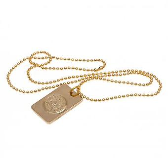 Leicester City Gold Plated Dog Tag & Chain