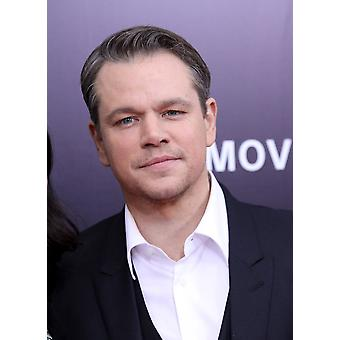 Matt Damon At Arrivals For The Monuments Men Premiere The Ziegfeld Theatre New York Ny February 4 2014 Photo By Andres OteroEverett Collection Photo Print