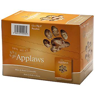 Applaws kat pose kylling & græskar 70g (pakke med 12)