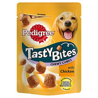 Pedigree C&t Puppy Tasty Bites Chewy Cubes Chicken 125g (Pack of 8)
