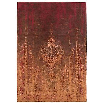 Distressed Mango Brown Medallion Flatweave Rug 80 x 150 - Louis de Poortere