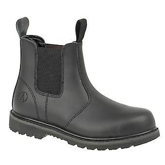 Gibt Stahl FS5 Womens Pull auf Sicherheit Händler Stiefel Textil Leder Slip auf
