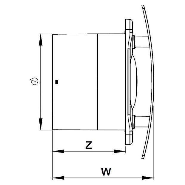 Bathroom Kitchen Wall Ventilation Extractor Fan 5