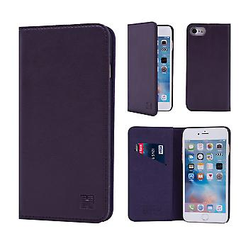 32nd Classic Real Leather Wallet for Apple iPhone 7  / iPhone 8   - Aubergine