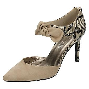 Womens Spot On Bow Detail Court Shoe F9746