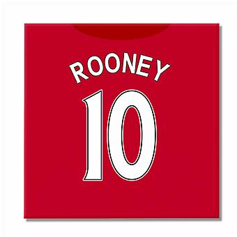 2016-2017 Man United Canvas Print (Rooney 10)