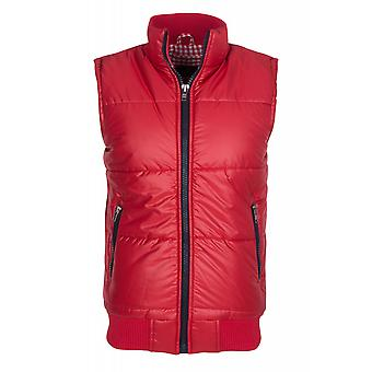 Tazzio fashion vest men's quilted vest red transition jacket