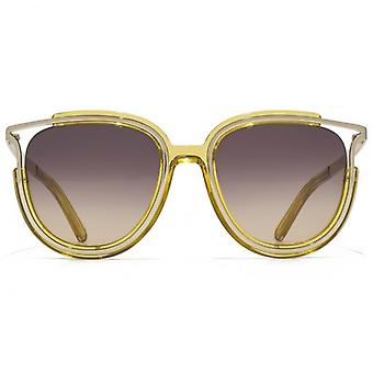 Chloe Jayme Feminine Round Sunglasses In Yellow