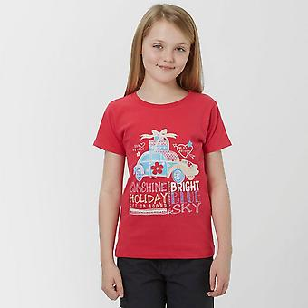 New Peter Storm Girl's Bon Voyage Travel Casual Tee Pink