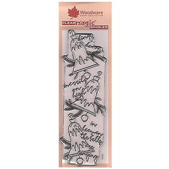 Woodware Clear Stamps Heavenly Bells Banner