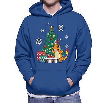 Pokemon Charmander Christmas Tree Men's Hooded Sweatshirt